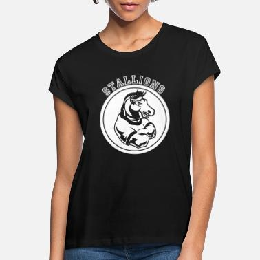 Stallion Stallions or Stallion Team Graphic - Women's Loose Fit T-Shirt