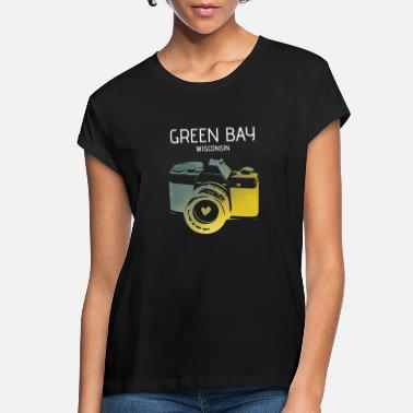 Green Bay camera with heart - Women's Loose Fit T-Shirt