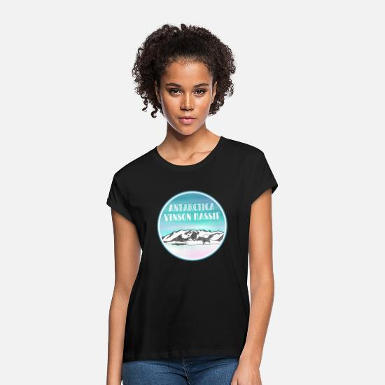 Antarctica T-Shirts - Vinson Massif Antarctica - Women's Loose Fit T-Shirt black