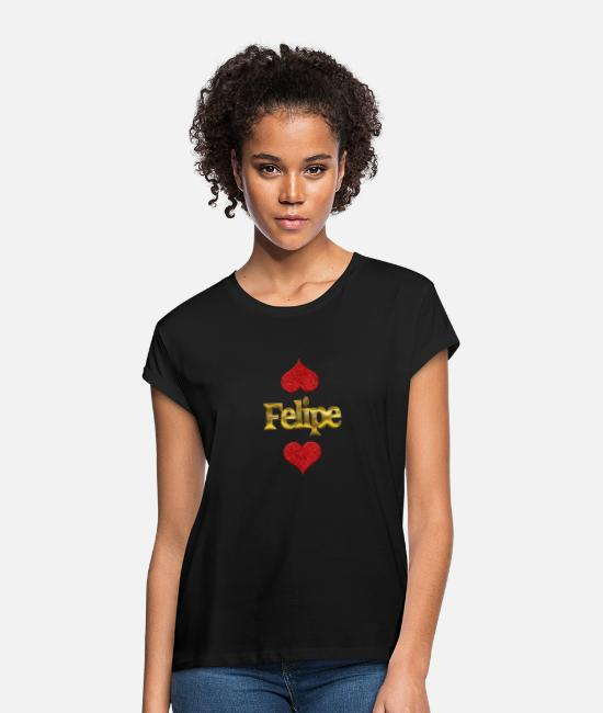 Felipe Hearts T-Shirts - Felipe - Women's Loose Fit T-Shirt black