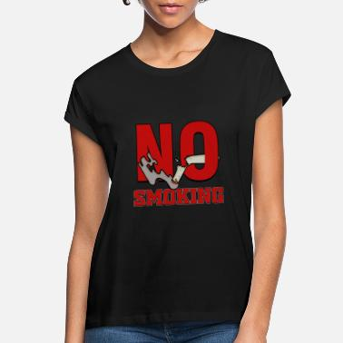 Thank You For Not Smoking No smoking Public Law Symbol Prohibited Sign Anti - Women's Loose Fit T-Shirt