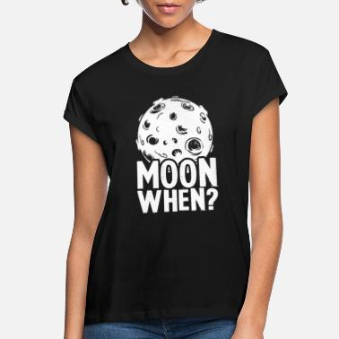 Moon Think Crypto - Moon When? - Women's Loose Fit T-Shirt