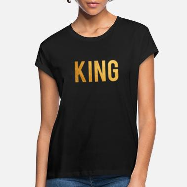 Gold King, African Gold Print, Black History Month - Women's Loose Fit T-Shirt