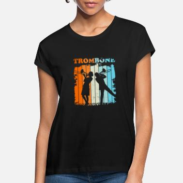 Pop Trombone Trombonist Jazz Retro Vintage Gift - Women's Loose Fit T-Shirt