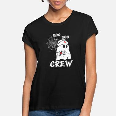 Halloween Boo Boo Crew Nurse Ghost Funny Halloween Costume G - Women's Loose Fit T-Shirt