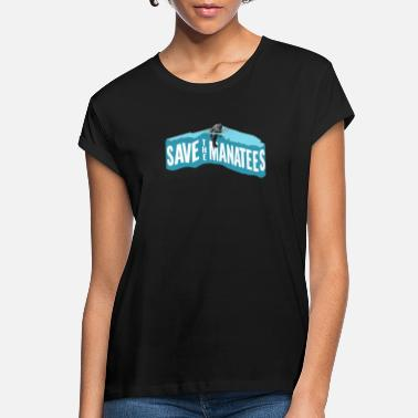 Florida Manatee Save Manatees Vintage Florida Sea Cow - Women's Loose Fit T-Shirt