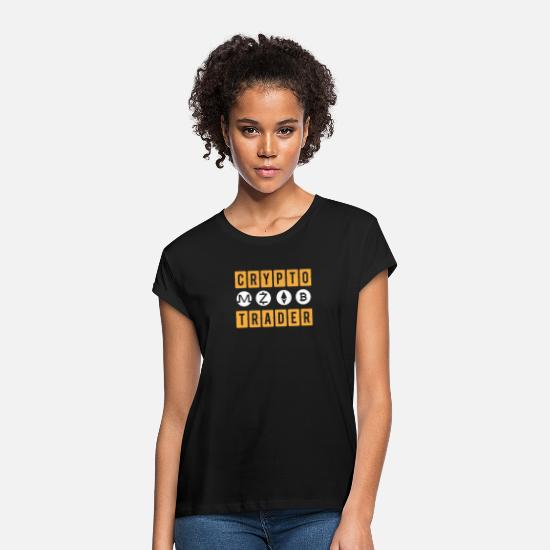 Trader T-Shirts - Crypto Trader for Bitcoin Traders, Investors, Fans - Women's Loose Fit T-Shirt black