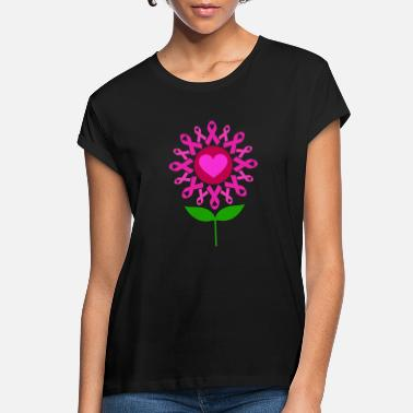 Breast Cancer Awareness Cancer Ribbon Flower Breast Cancer Awareness Pink - Women's Loose Fit T-Shirt