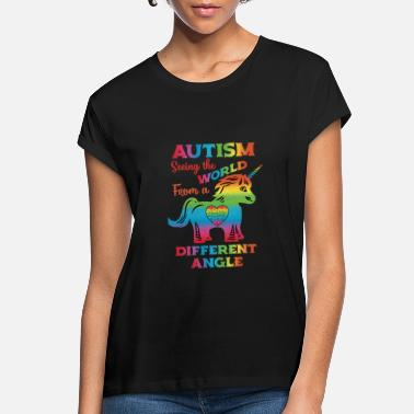 Autism Awareness Autism Awareness Kids Autism Unicorn Distressed - Women's Loose Fit T-Shirt