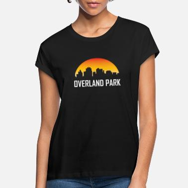 Overland Park Overland Park Kansas Sunset Skyline - Women's Loose Fit T-Shirt