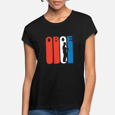 Red White And Blue Red White And Blue Oboe - Women's Loose Fit T-Shirt
