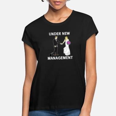 Under New Management Married Bride Groom Gift Womens V-Neck T-Shirts Tees Tshirt