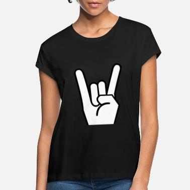 Pommesgabel Rock Metal Hand Pommesgabel - Women's Loose Fit T-Shirt