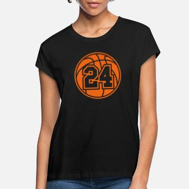 24 Basketball Vector 1_color TAS - Women's Loose Fit T-Shirt