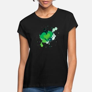 Piant Green Paint Splatter - Women's Loose Fit T-Shirt