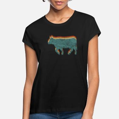 Beef Cow Bull Beef Retro Vintage - Women's Loose Fit T-Shirt