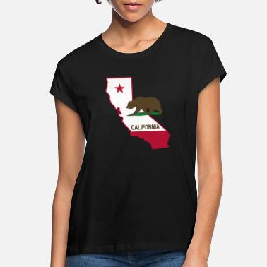 State CALIFORNIA STATE WITH STATE BEAR - Women's Loose Fit T-Shirt
