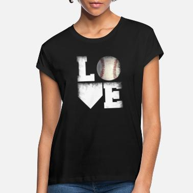 I Love Softball Love Softball - Women's Loose Fit T-Shirt