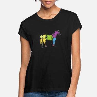 Pony Stall Horse Pony Stall Animal Horseshoe Saddle Gift - Women's Loose Fit T-Shirt