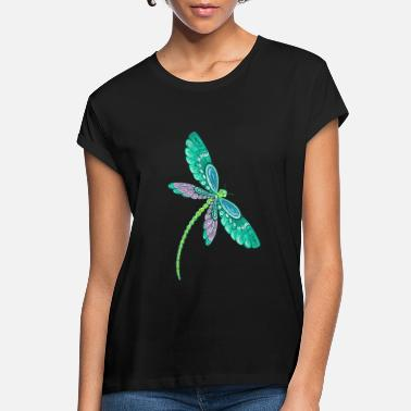 Dragonfly Dragonfly drawing I love Dragonflies Gift idea - Women's Loose Fit T-Shirt