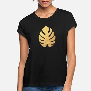 Deluxe Monstera Philodendron Yoga Gold Leaf exclusive - Women's Loose Fit T-Shirt