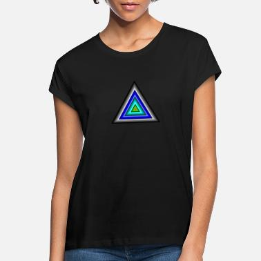 Triangle Triangles in Triangle - Women's Loose Fit T-Shirt