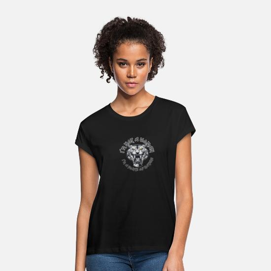 Rebellion T-Shirts - I´m not a woman I´m a force of nature Tiger Gift - Women's Loose Fit T-Shirt black