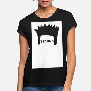 Deejay Techno Hair underground minimal techno minimal - Women's Loose Fit T-Shirt