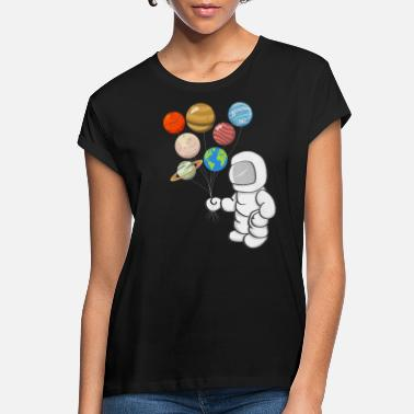 Planet Astronaut Planet Balloon - Women's Loose Fit T-Shirt