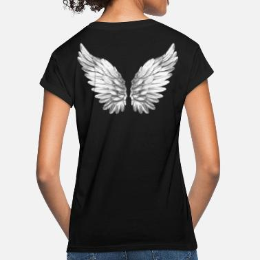 Angelwings Angel Wings White Silver Angelwings - Women's Loose Fit T-Shirt
