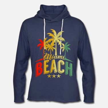 Miami Miami Beach Retro Summer USA Gift - Unisex Lightweight Terry Hoodie