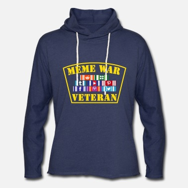 Meme War Veteran - Unisex Lightweight Terry Hoodie