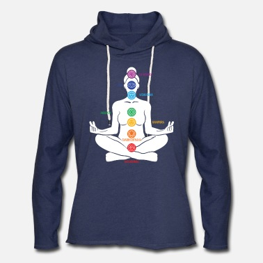 Healing Activate your chakra, meditation, relaxation - Unisex Lightweight Terry Hoodie