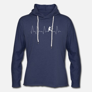 Tennis Player Tennis Player Heartbeat - Unisex Lightweight Terry Hoodie