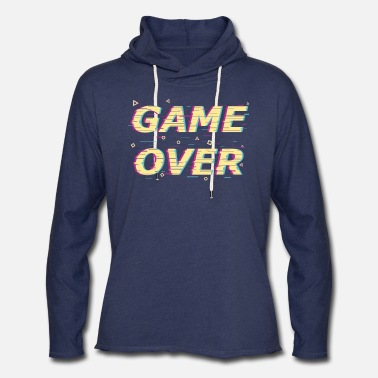 Game Over Game Over Otaku Vaporwave - Unisex Lightweight Terry Hoodie