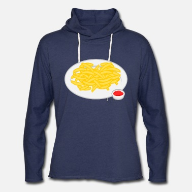 French Roast French Fries Plate - Unisex Lightweight Terry Hoodie