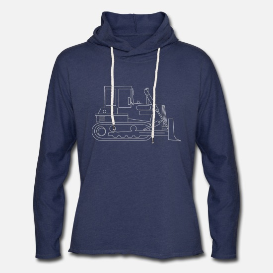 Bulldozer Hoodies & Sweatshirts - bulldozer - Unisex Lightweight Terry Hoodie heather navy