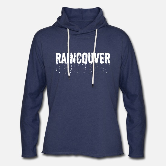 Vancouver Hoodies & Sweatshirts - Vancouver Raincouver - Unisex Lightweight Terry Hoodie heather navy