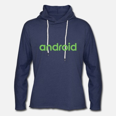 Android Android logo wordmark logotype - Unisex Lightweight Terry Hoodie