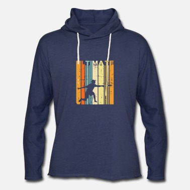 Retro Ultimate Frisbee Vintage Disc Golf Gift - Unisex Lightweight Terry Hoodie