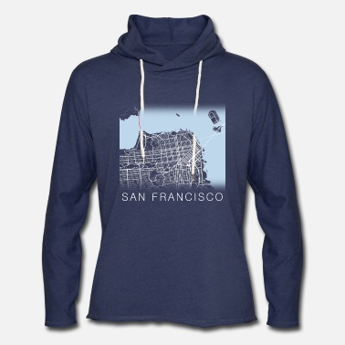 San Francisco Streets - Unisex Lightweight Terry Hoodie