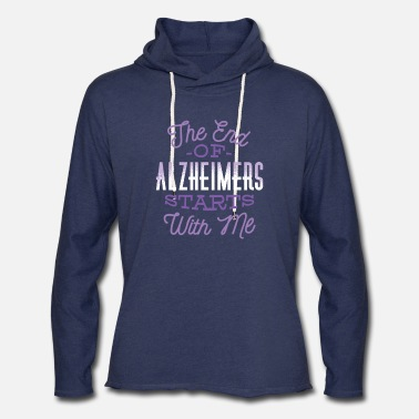 Grandmother End Alzheimers Design - Unisex Lightweight Terry Hoodie
