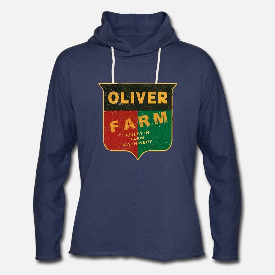 Tractor Hoodies & Sweatshirts - Oliver Farm Equipment - Unisex Lightweight Terry Hoodie heather navy