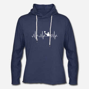 Water Sports Heartbeat Water Polo Ball Player Sports - Unisex Lightweight Terry Hoodie