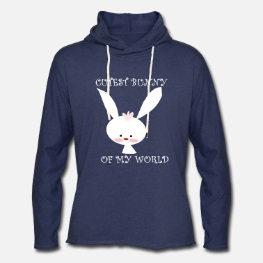 Easter Bunny CUTEST BUNNY - Cute easter bunny - Unisex Lightweight Terry Hoodie