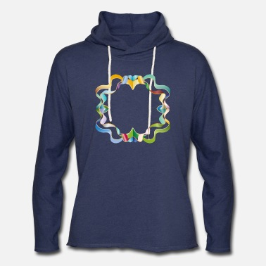 Element empty frame made of colorful shimmering ribbons - Unisex Lightweight Terry Hoodie