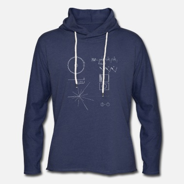 Record Voyager Golden Record (Carl Sagan) - Unisex Lightweight Terry Hoodie