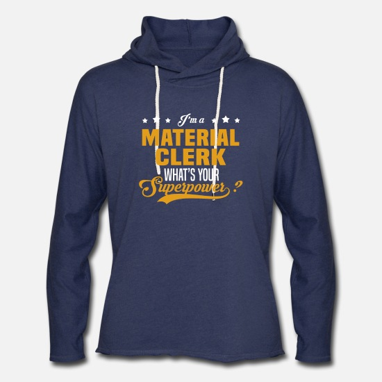 Superpower Hoodies & Sweatshirts - Material Clerk - Unisex Lightweight Terry Hoodie heather navy