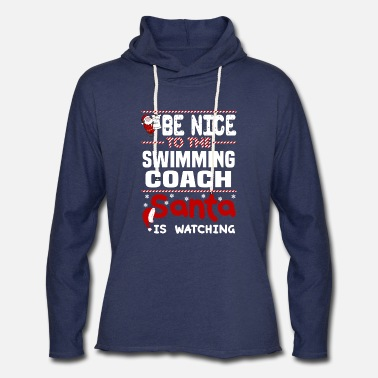 Coach Swim Swimming Coach - Unisex Lightweight Terry Hoodie