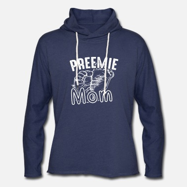 Preemie Mom Shirts - Unisex Lightweight Terry Hoodie